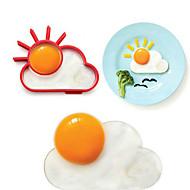 Sun Cloud alakú tojást ring a reggeli, tojás penész főzési eszközök, szilikon, l10 * W8 * h1.2cm