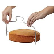 moda çift hat ayarlanabilir paslanmaz çelik metal kek kesme araçları kek dilimleyici cihazı kalıp bakeware mutfak pişirme