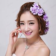 Kristal Tekstil tijare Cvijeće Kosa za kosu 1 Vjenčanje Special Occasion Zabava / večer Vanjski Glava