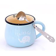 Sorriso fofo rosto chá curvado café colher de condimento colher de chá de aço inoxidável
