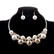 Žene Komplet nakita Ogrlica / Naušnice Biseri Imitacija bisera Imitacija dijamanta Legura Luksuz Šupalj Moda Vjenčanje Party Dnevno