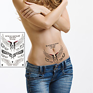 Luxurious Angel Wings Tattoo Stickers Temporary Tattoos(1 pc)
