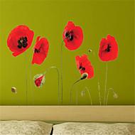 風景 フローラル柄 植物の ウォールステッカー プレーン・ウォールステッカー 飾りウォールステッカー, ビニール ホームデコレーション ウォールステッカー・壁用シール 壁