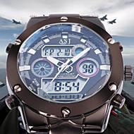 ASJ Homens Relógio Esportivo Relógio de Pulso Relógio de Moda Japanês Quartzo Alarme Calendário Cronógrafo Impermeável Dois Fusos