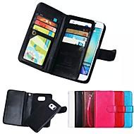 Para Samsung Galaxy Capinhas Case Tampa Carteira Porta-Cartão Magnética Corpo Inteiro Capinha Cor Única Macia Couro Legitimo para Samsung