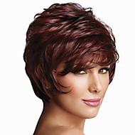 الاصطناعية الباروكات مجعد أسلوب دون غطاء شعر مستعار أحمر Fuxia شعر مستعار صناعي نسائي أحمر شعر مستعار