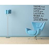 tænke dybt tale blidt elsker meget citat wallstickers zooyoo8031 dekorative diy flytbare vinyl væg sticker