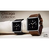 billiga Smart klocka Tillbehör-Klockarmband för Apple Watch Series 3 / 2 / 1 Apple Handledsrem Klassiskt spänne Äkta Läder