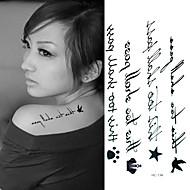 1 Tatouages Autocollants Autres Non Toxique Bas du Dos ImperméableEnfant Homme Femme Adulte Adolescent Tatouage TemporaireTatouages
