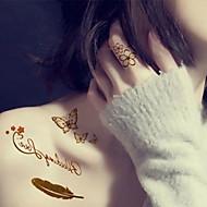 billiga Tatuering och body art-5 pcs Tatueringsklistermärken tillfälliga tatueringar Djurserier / Blomserier / Smyckeserier Ogiftig / Hawaiisk Body art / Mönster