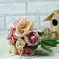 Kunstige blomster 1 Gren Bryllupsblomster Peoner Bordblomst