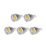 abordables Ampoules LED-5pcs 9W 750-800lm GU10 Spot LED MR16 1 Perles LED COB Intensité Réglable Blanc Chaud / Blanc Froid 110-130V / 220-240V