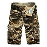Bărbați Mărime Plus Size Relaxat / Pantaloni Scurți Pantaloni camuflaj
