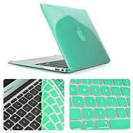 Χαμηλού Κόστους Εβδομαδιαίες Προσφορές-στερεό χρώμα νεότερο περίπτωση κρύσταλλο γεμάτο σώμα με κάλυμμα πληκτρολογίου για τον αέρα MacBook 11,6 ιντσών (διάφορα χρώματα)
