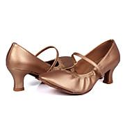 billige Moderne sko-Dame Moderne Kunstlær Høye hæler Trening Nybegynner Profesjonell Innendørs Utendørs Stiletthæl Sølv Brun Gull 5 cm Kan spesialtilpasses
