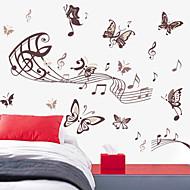 Wall Stickers væg decals stil musik sommerfugl pvc wall stickers