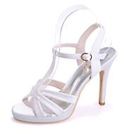 Χαμηλού Κόστους -Γυναικεία Παπούτσια Σατέν Άνοιξη / Καλοκαίρι Τακούνι Στιλέτο Ροζ / Ανοικτό Καφέ / Κρύσταλλο / Γάμου / Πάρτι & Βραδινή Έξοδος