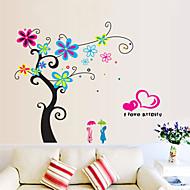 Menschen Blumen Cartoon Design Botanisch Wand-Sticker Flugzeug-Wand Sticker Dekorative Wand Sticker, Vinyl Haus Dekoration Wandtattoo Wand