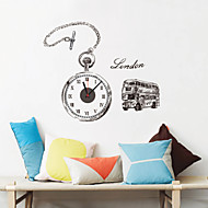 Moderne/Contemporain Rétro Personnages Inspiré Mariage Famille Amis Horloge murale,Nouveauté Plastique Autres Intérieur/Extérieur Horloge
