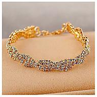 Legering Dames Chain Armbanden Bergkristal