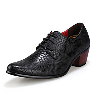 Men's Shoes Synthetic Microfiber PU Fall Winter Comfort Light Soles Formal Shoes Oxfords Lace-up For Wedding Casual Office & Career Black