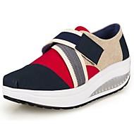 Platform / Puhatalpú cipő - Parafa - Női cipő - Edzőcipő - Irodai / Alkalmi / Sportos - Vászon - Kék / Piros