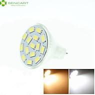 billige Spotlys med LED-SENCART 550-650 lm GU4(MR11) LED-spotpærer MR11 15 LED perler SMD 5730 Mulighet for demping / Dekorativ Varm hvit / Kjølig hvit / / RoHs