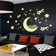 cheap Wall Stickers-Night Light Luminous Stickers Home Decor Home Decoration Wall Sticker For Kids Rooms Wall Decals Moon And Stars