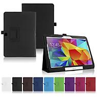 billiga Mobil cases & Skärmskydd-SHI CHENG DA fodral Till Samsung Galaxy / Tab A 9.7 Samsung Galaxy-fodral med stativ / Lucka Fodral Ensfärgat PU läder för Tab 4 10.1 / Tab Pro 10.1