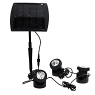 baratos Focos-1 pc spotlight à prova d 'água alimentado por energia solar 3x6 led light outdoor path path lamp