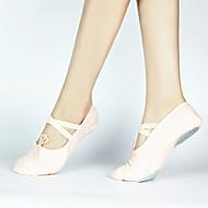 billige Ballettsko-Dame Ballettsko Lerret Flate Flat hæl Kan spesialtilpasses Dansesko Svart / Rød / Rosa / Ytelse
