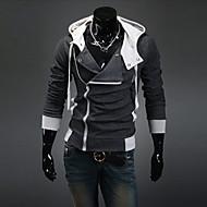 Muškarci Veći konfekcijski brojevi Sport Ležerne prilike Aktivan Dugih rukava Slim hoodie jakna Jednobojni S kapuljačom