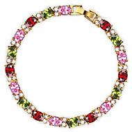 Armbanden met ketting en sluiting Armband Vintage Schattig Feest Werk Informeel Kleurrijk Modieus Schakels/ketting Kubieke Zirkonia