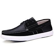 Férfi cipő Bőrutánzat Nappa Leather Tavasz Nyár Ősz Tél Kényelmes Fűző Kompatibilitás Hétköznapi Fekete Piros Burgundi vörös