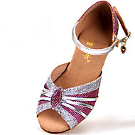 Children's Dance Shoes Sandals Glitter Chunky Heel Gold/Silver/Pink/Blue/Black