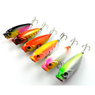 お買い得  フィッシング-5 個 ポッパー ルアー ポッパー 硬質プラスチック 海釣り 川釣り バス釣り