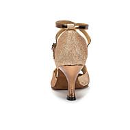نسائي أحذية رقص / أحذية سالسا جلد صندل مشبك كعب مثير مخصص أحذية الرقص فضة / ذهبي / البنفسجي / للأطفال / داخلي / تمرين / متخصص / EU41