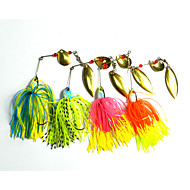 8 pcs Спиннер-приманки Рыболовная приманка Приманка Баззбейт / Спиннербейт Жесткие пластиковые Силиконовые Металл Плавающий Морское рыболовство Пресноводная рыбалка