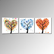 cheap Prints-Romance Pop Art Three Panels Square Print Wall Decor Home Decoration