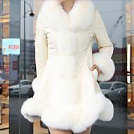 Kvindelig faux pels top, foret varmt og behageligt temperament blødt