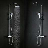 זול ראשי מקלחת-עכשווי מקלחת גשם כרום מאפיין - גשם, ראש המקלחת