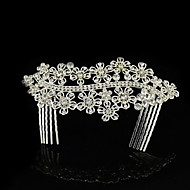 cheap Wedding Headpieces-Rhinestone Alloy Hair Combs 1 Wedding Headpiece