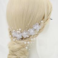 billiga Brudhuvudbonader-Chiffong Oäkta pärla Legering Hair Combs 1 Bröllop Speciellt Tillfälle Hårbonad