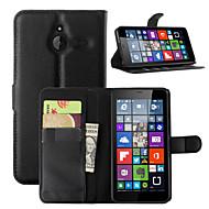 billiga Mobil cases & Skärmskydd-fodral Till Nokia Lumia 540 Nokia Lumia 640 Nokia Nokia Lumia 730 Nokia-fodral Korthållare Plånbok med stativ Fodral Ensfärgat Hårt PU
