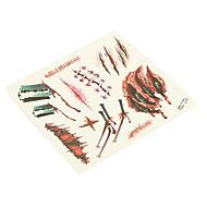 billige Midlertidig maling-1 pcs Tatoveringsklistermærker Midlertidige Tatoveringer Ikke Giftig / Halloween Kropskunst Krop / hænder / arm