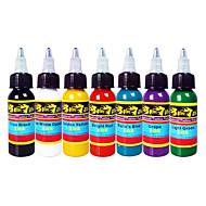 דיו קעקוע Solong 7 צבעים להגדיר 1oz 30ml / בקבוק קעקוע פיגמנט Kit