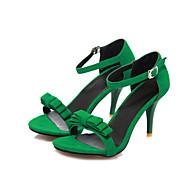 baratos Sapatos Femininos-Feminino Sapatos Flanelado Verão Conforto Tira no Tornozelo Sandálias Caminhada Salto Agulha Dedo Aberto Laço Presilha Para Casamento