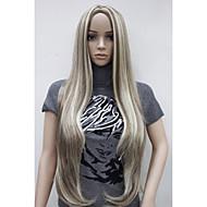 Szintetikus parókák Egyenes Szőke Szintetikus haj Balayage haj / Középső rész Szőke Paróka Női Nagyon hosszú Sapka nélküli