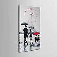 벽 시계 - 현대/현대 - 캔버스 - 직사각형