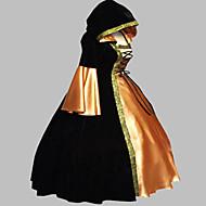 Χαμηλού Κόστους Men-Μεσαίωνα Victorian Στολές Γυναικεία Φορέματα Χορός μεταμφιεσμένων Κοστούμι πάρτι Μαύρο Πεπαλαιωμένο Cosplay Σατέν Κοτλέ Τερυλίνη